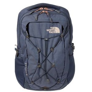 North Face Borealis Luxe Navy Rose Gold Backpack